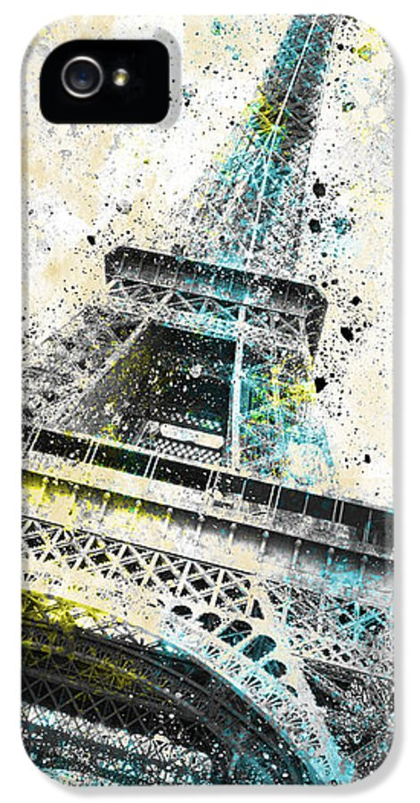 Europe IPhone 5 Case featuring the photograph City-art Paris Eiffel Tower Iv by Melanie Viola