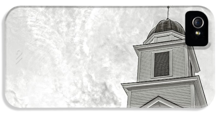 Etna IPhone 5 Case featuring the photograph Classic New England Church Etna New Hampshire by Edward Fielding