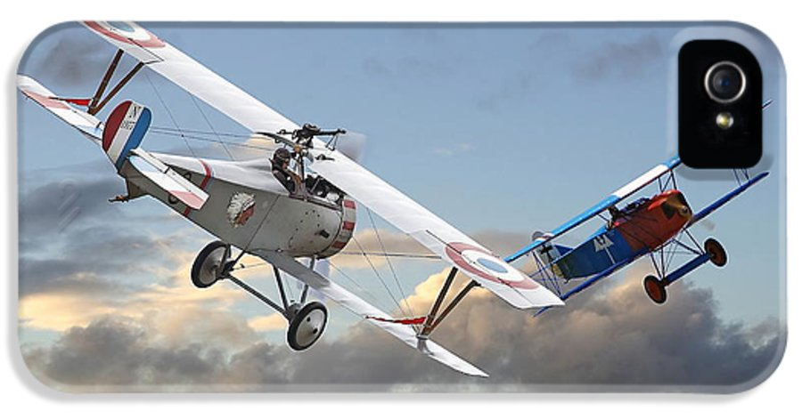Aircraft IPhone 5 Case featuring the digital art Close Quarters by Pat Speirs