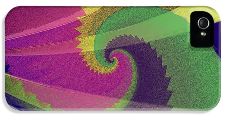 Abstract IPhone 5 Case featuring the digital art Color Designs by Anthony Caruso