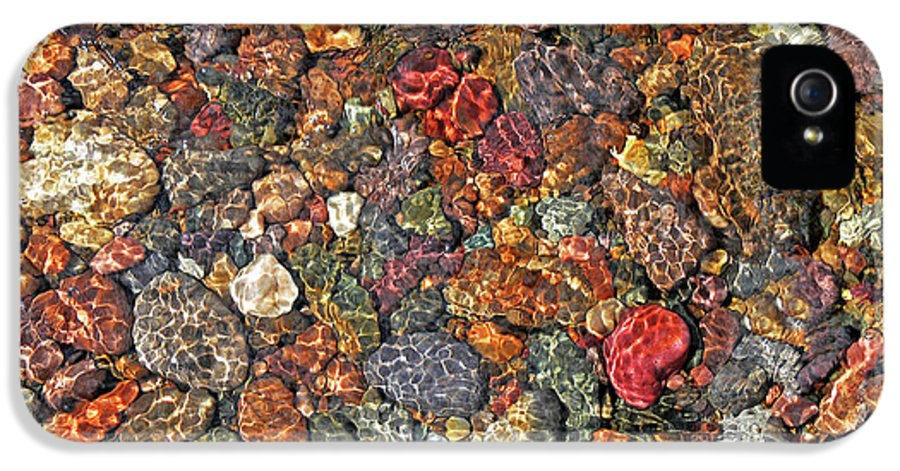 Rock Creek IPhone 5 Case featuring the photograph Colorful Rocks In Stream Bed Montana by Jennie Marie Schell