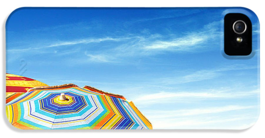 Abstract IPhone 5 / 5s Case featuring the photograph Colorful Sunshades by Carlos Caetano