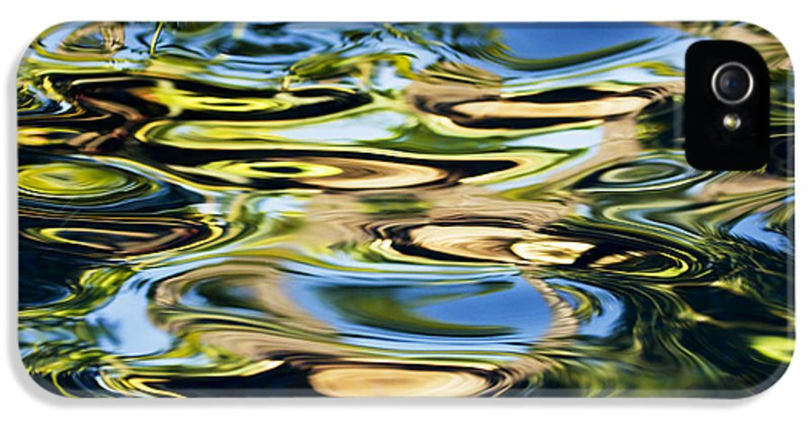 30-csm0292 IPhone 5 Case featuring the photograph Colorful Water Ripples by Dave Fleetham - Printscapes