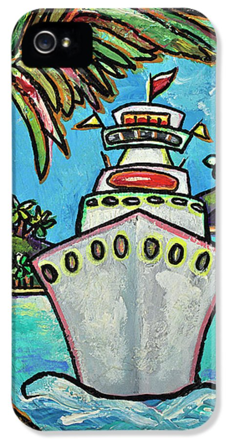 Cruise Ship IPhone 5 Case featuring the painting Colors Of Cruising by Patti Schermerhorn