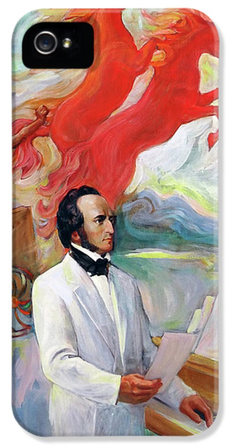 Mendelssohn IPhone 5 Case featuring the painting Composer Felix Mendelssohn by Svitozar Nenyuk