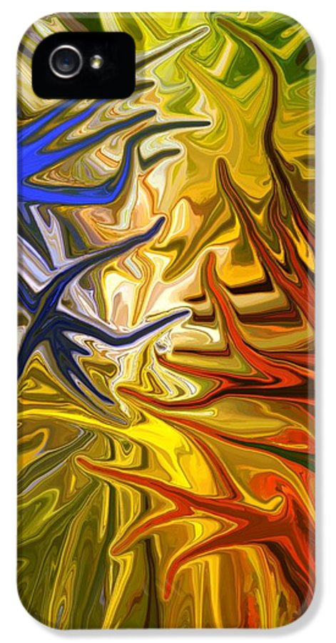 Abstract IPhone 5 Case featuring the mixed media Connect by Chris Butler