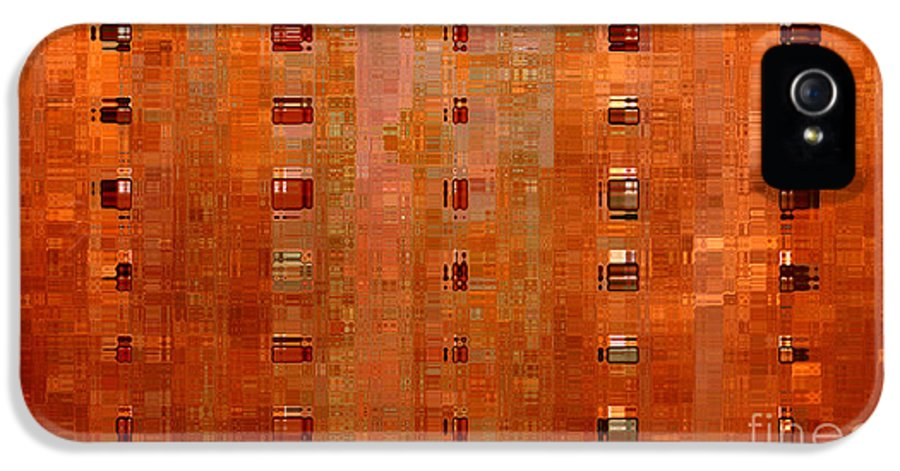 Digital Art Abstract IPhone 5 Case featuring the digital art Copper Abstract by Carol Groenen