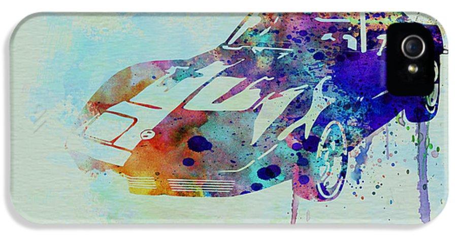 Corvette IPhone 5 Case featuring the painting Corvette Watercolor by Naxart Studio