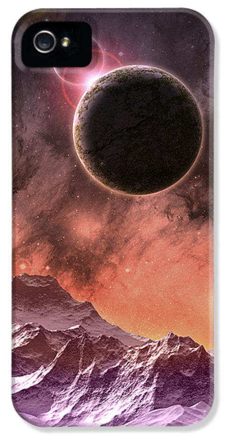Digital Art IPhone 5 / 5s Case featuring the digital art Cosmic Range by Phil Perkins