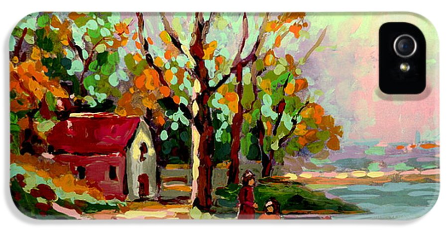 Montreal IPhone 5 Case featuring the painting Cottage Country The Eastern Townships A Romantic Summer Landscape by Carole Spandau