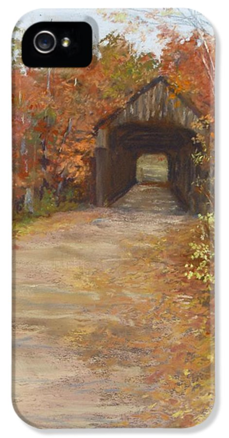 Covered Bridge IPhone 5 Case featuring the painting Covered Bridge Southern Nh by Jack Skinner