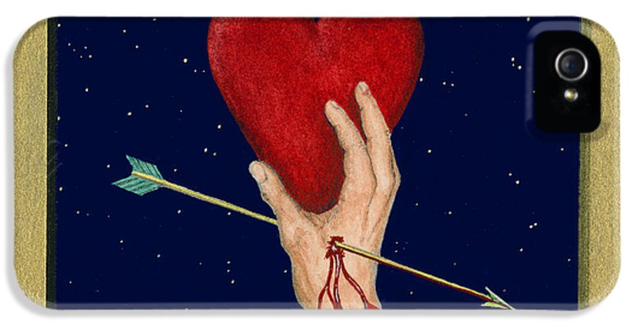 Cupid IPhone 5 Case featuring the painting Cupids Arrow by Charles Harden