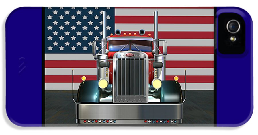Peterbilt IPhone 5 Case featuring the digital art Custom Peterbilt 2 by Stuart Swartz