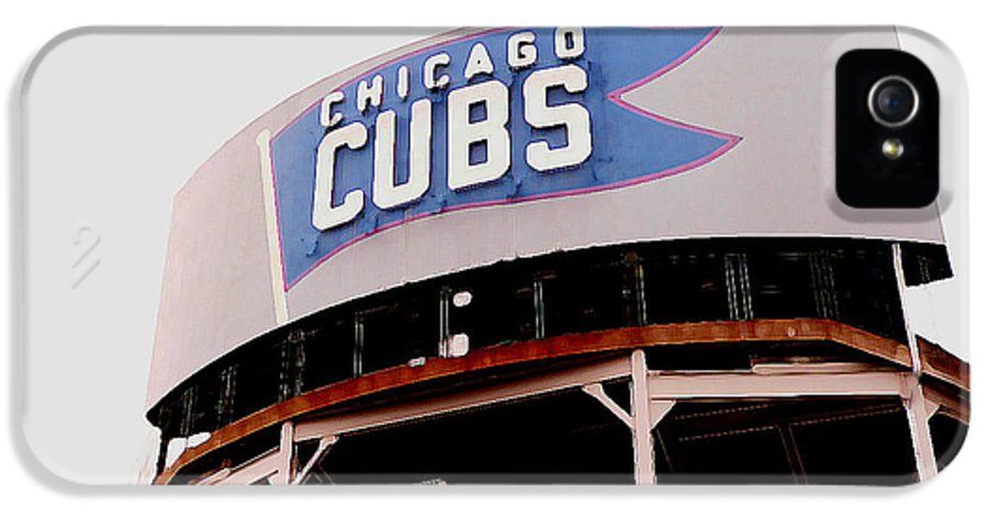 Wrigley Field IPhone 5 Case featuring the photograph Da Cubs by David Bearden