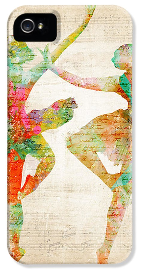 Ballet IPhone 5 Case featuring the digital art Dance With Me by Nikki Smith