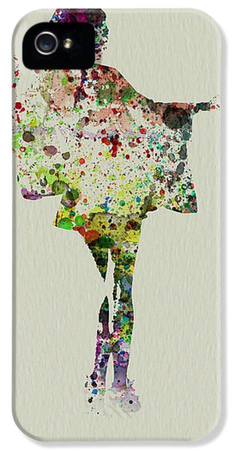Kimono IPhone 5 Case featuring the painting Dancing Geisha by Naxart Studio