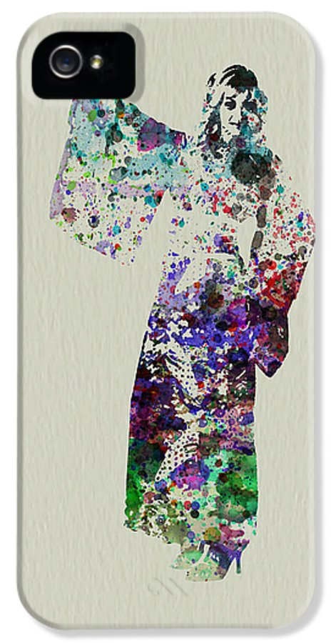Kimono IPhone 5 Case featuring the painting Dancing In Kimono by Naxart Studio