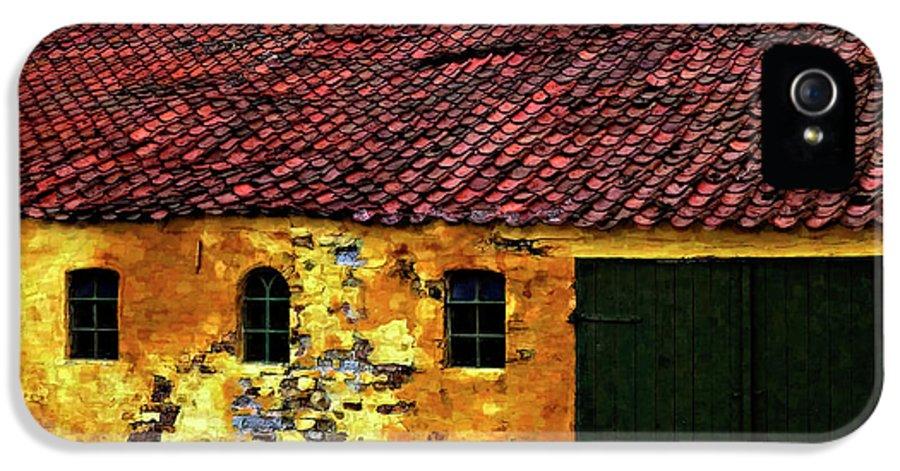 Barn IPhone 5 Case featuring the photograph Danish Barn Watercolor Version by Steve Harrington