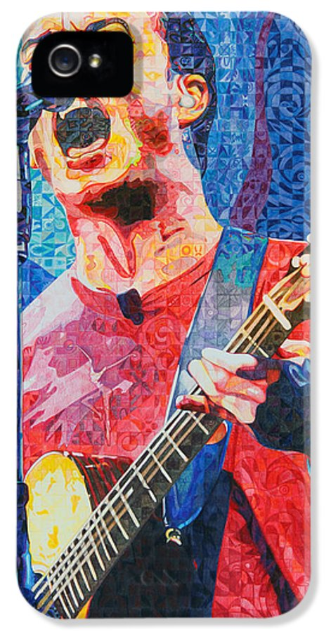 Dave Matthews IPhone 5 Case featuring the drawing Dave Matthews Squared by Joshua Morton