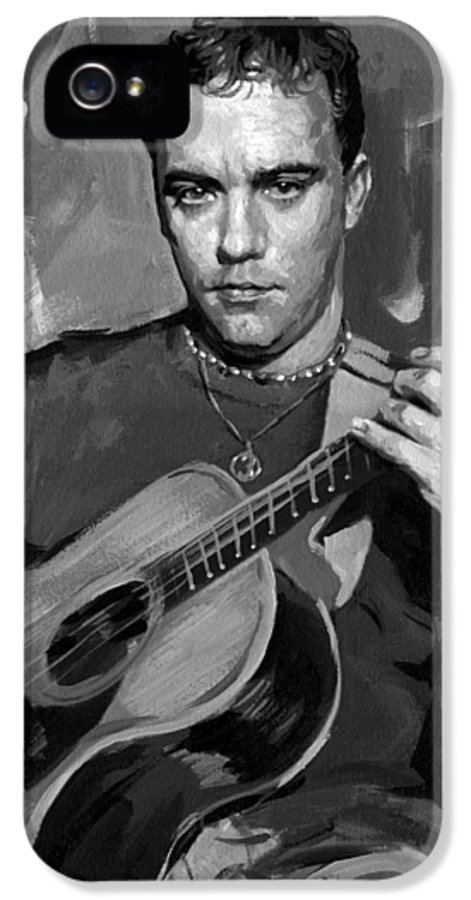 Dave Matthews IPhone 5 Case featuring the painting Dave Matthews by Ylli Haruni