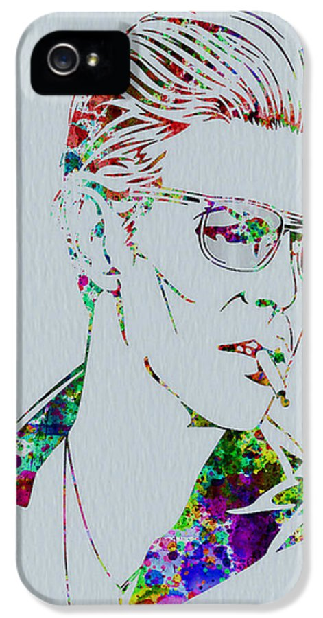 David Bowie IPhone 5 Case featuring the painting David Bowie by Naxart Studio