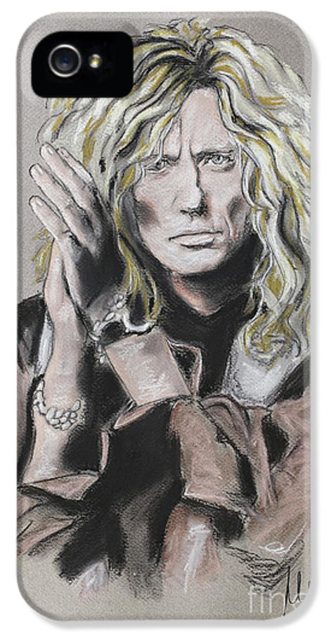 David Coverdale IPhone 5 Case featuring the pastel David Coverdale by Melanie D