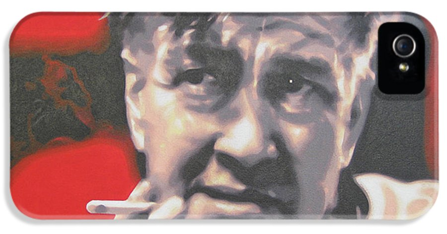 Laura Palmer IPhone 5 / 5s Case featuring the painting David Lynch by Luis Ludzska