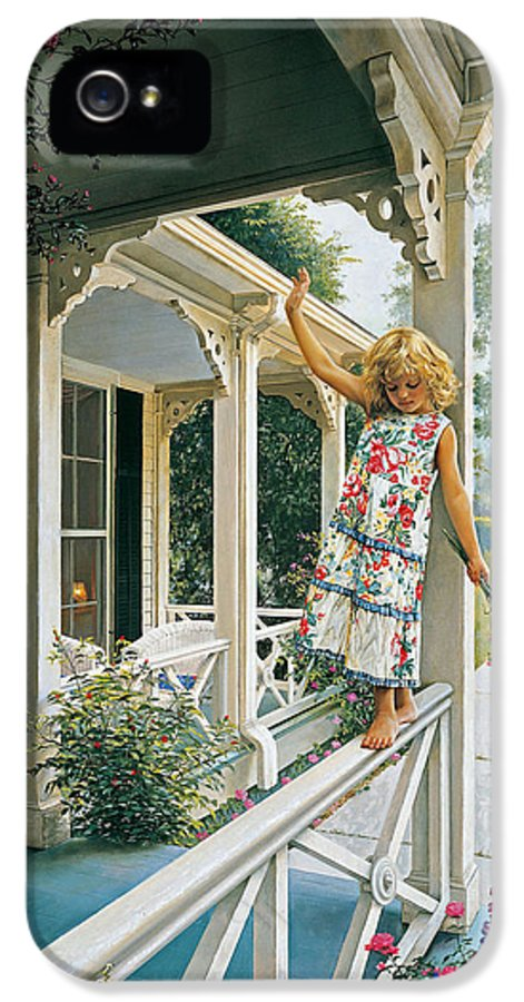 Little Girl IPhone 5 Case featuring the painting Delicate Balance by Greg Olsen