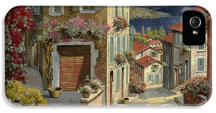 Seascape IPhone 5 Case featuring the painting Di Notte Al Mare by Guido Borelli