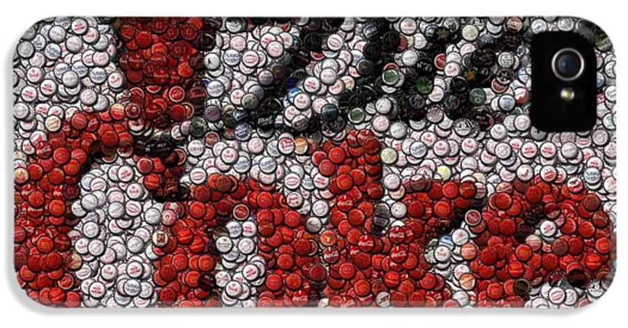 Diet Coke IPhone 5 Case featuring the digital art Diet Coke Bottle Cap Mosaic by Paul Van Scott