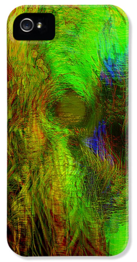 Digital Art.abstract Art IPhone 5 Case featuring the digital art Dissolution by Linda Sannuti