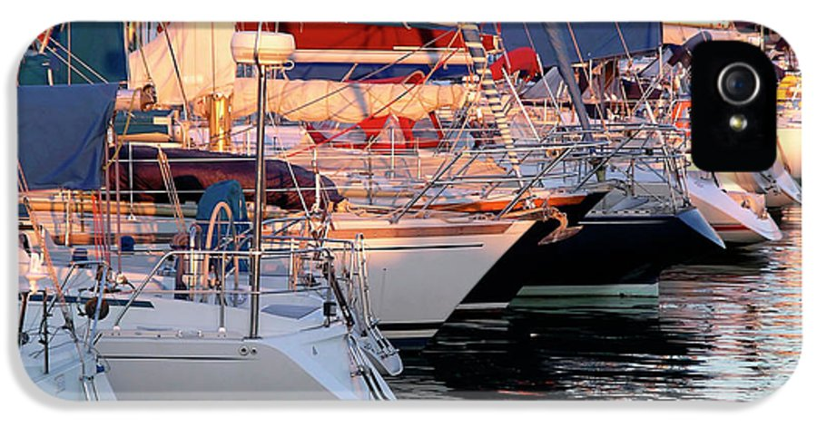 Anchor IPhone 5 Case featuring the photograph Docked Yatchs by Carlos Caetano