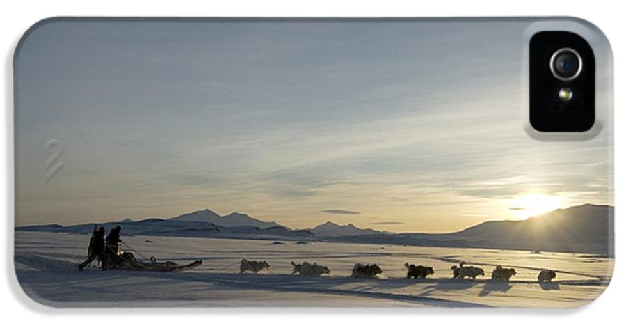 Snow IPhone 5 Case featuring the photograph Dogsledge, Northern Greenland by Louise Murray