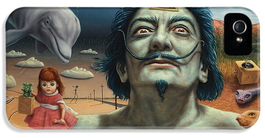 Dali IPhone 5 Case featuring the painting Dolly In Dali-land by James W Johnson