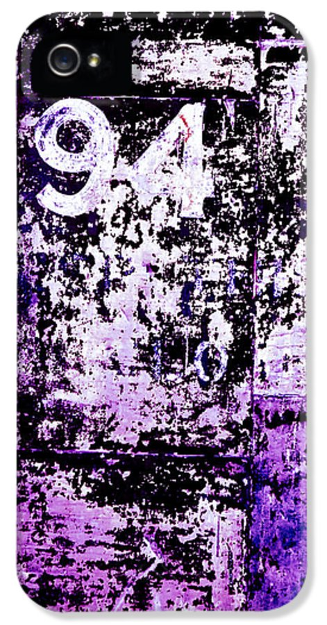 Abstract IPhone 5 Case featuring the photograph Door 94 Perception by Bob Orsillo