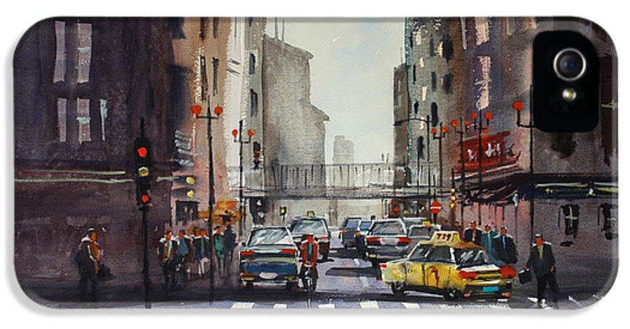 Ryan Radke IPhone 5 Case featuring the painting Downtown Chicago by Ryan Radke