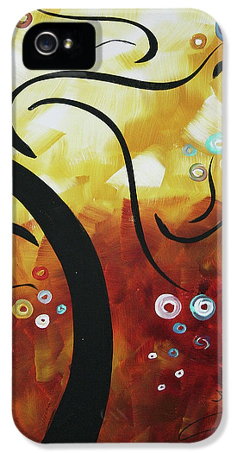 Drama Unleashed IPhone 5 Case featuring the painting Drama Unleashed 1 by Megan Duncanson