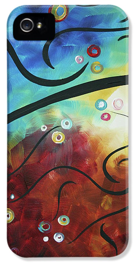 Drama Unleashed IPhone 5 Case featuring the painting Drama Unleashed 2 by Megan Duncanson