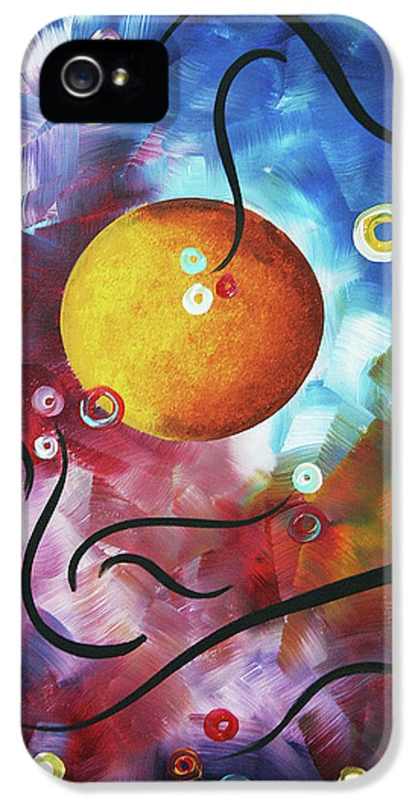 Drama Unleashed IPhone 5 Case featuring the painting Drama Unleashed 3 by Megan Duncanson