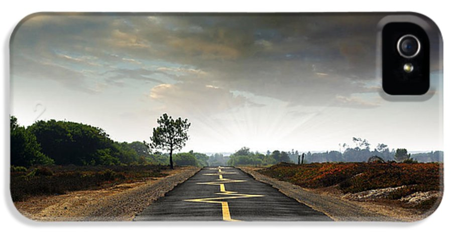 Asphalt IPhone 5 Case featuring the photograph Drive Safely by Carlos Caetano