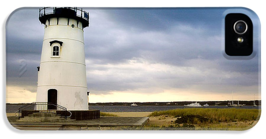 Edgartown Lighthouse IPhone 5 Case featuring the photograph Edgartown Lighthouse Cape Cod by Matt Suess