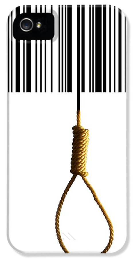 Bar Code IPhone 5 Case featuring the photograph End Of Consumerism, Conceptual Image by Victor De Schwanberg