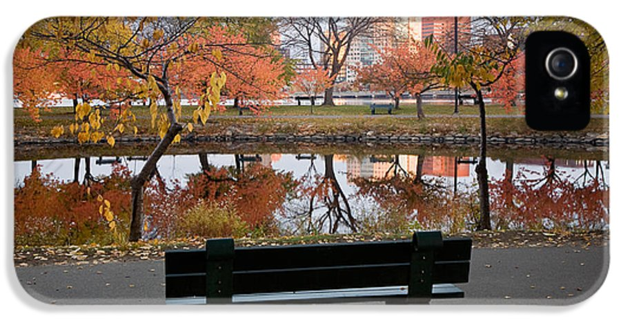 Autumn IPhone 5 Case featuring the photograph Esplanade View by Susan Cole Kelly