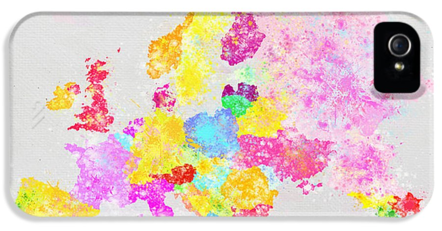 Austria IPhone 5 Case featuring the painting Europe Map by Setsiri Silapasuwanchai