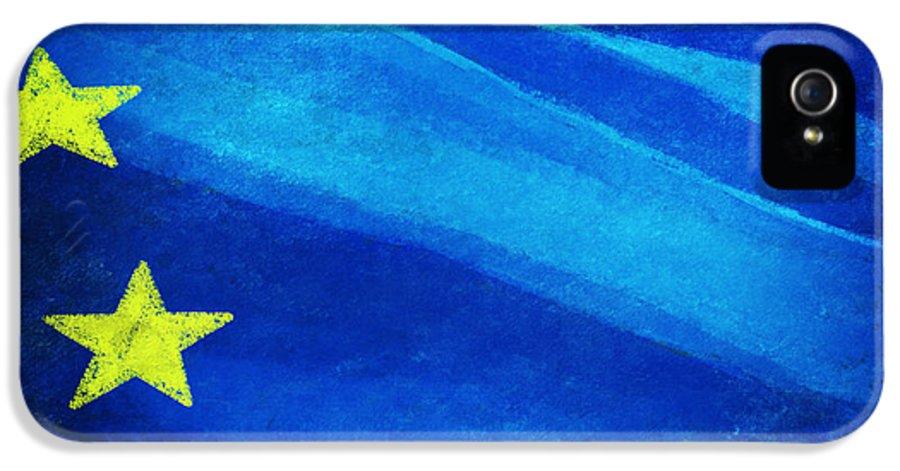 Background IPhone 5 Case featuring the painting European Flag by Setsiri Silapasuwanchai