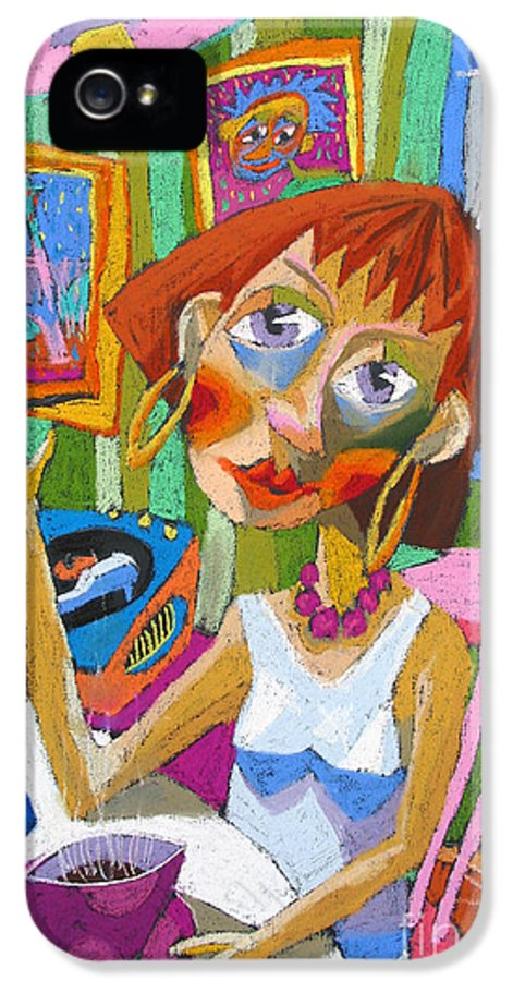 Pastel IPhone 5 Case featuring the painting Evening Dream by Yuriy Shevchuk