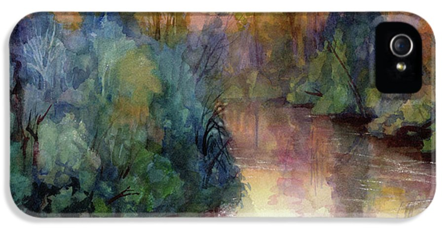 Water IPhone 5 Case featuring the painting Evening On The Willamette by Steve Henderson