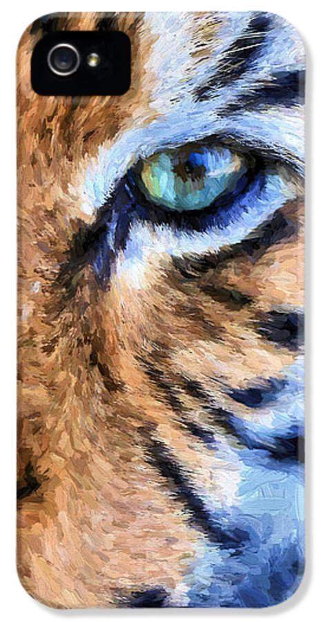Tiger IPhone 5 Case featuring the photograph Eye Of The Tiger by JC Findley