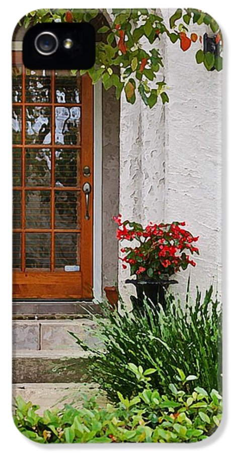 Alabama Photographer IPhone 5 Case featuring the digital art Fairhope Doorway by Michael Thomas