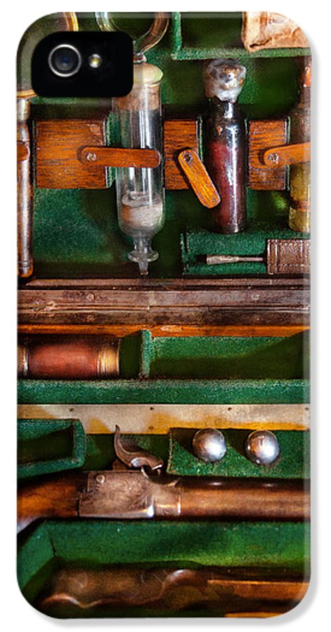 Vampire IPhone 5 Case featuring the photograph Fantasy - Emergency Vampire Kit by Mike Savad